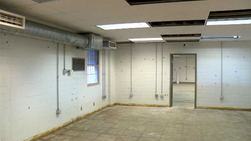 Work is underway to restore the old AT&T building into Tyler police's new crime lab