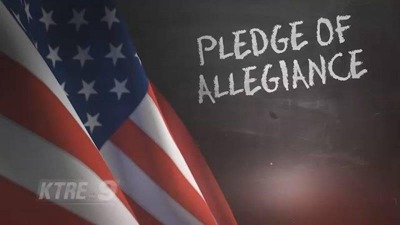Angelina County Sheriff's Department Recites Pledge of Allegiance