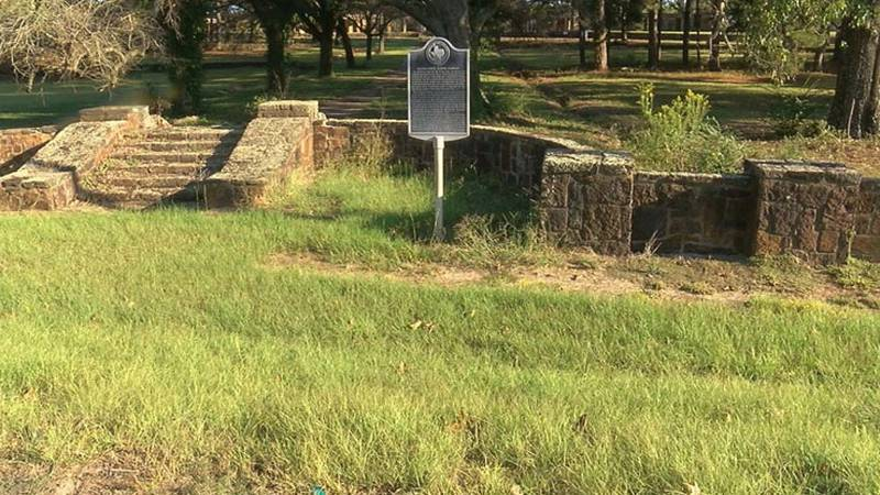 Pictured is the site of the old Gaston school in Rusk County. (Source: KLTV Staff)
