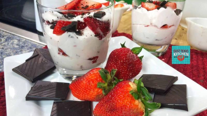 "Mama Steph's ""Strawberry-chocolate fool"" (Source: KLTV/East Texas Kitchen)"