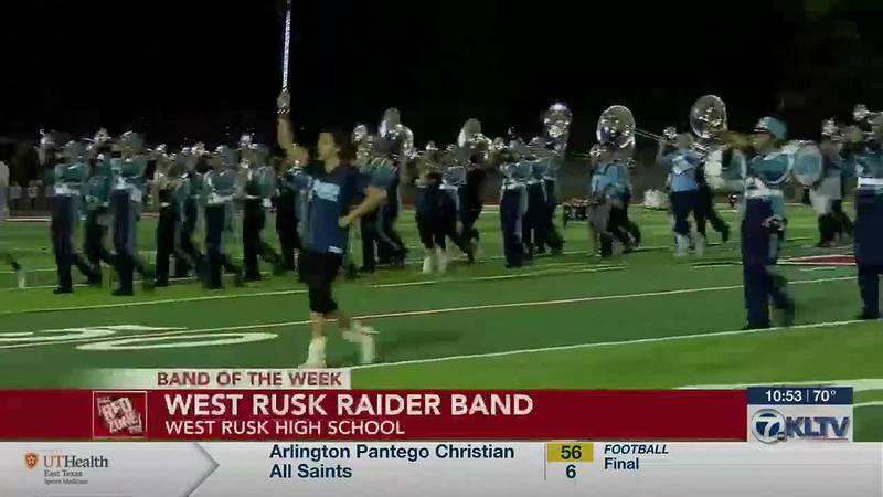 Week 9 Band of the Week: West Rusk Raiders