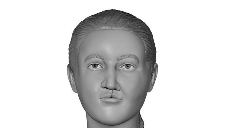 NCMEC artist's rendering of Jane Doe whose remains were found in Gregg County in 2002.