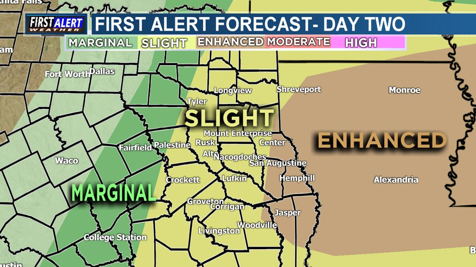 A First Alert Weather Day has been declared for Sunday morning and into the afternoon