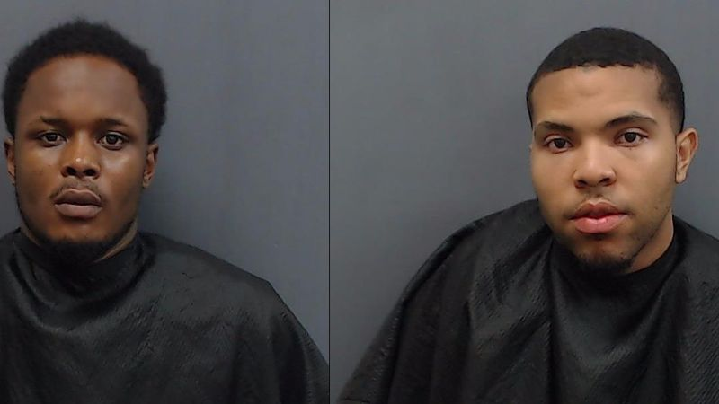 Lamark Jackson Jr. (left) and Andre Mason were arrested Friday morning after allegedly robbing...