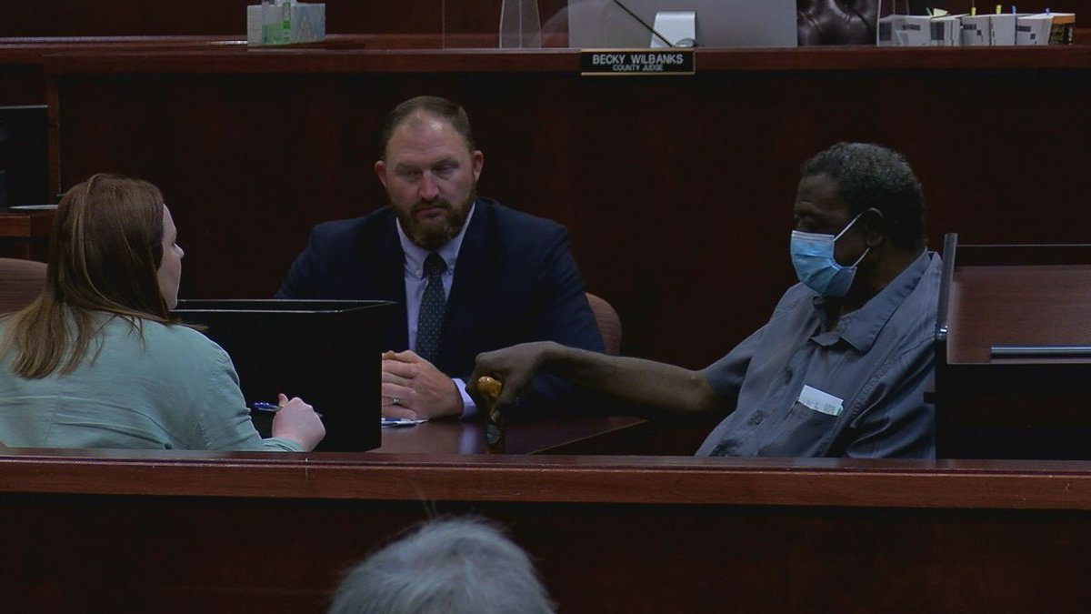 Domino Mayor Al Campbell made a court appearance Wednesday.