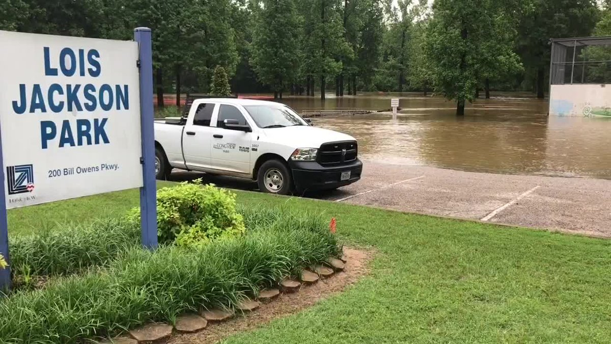High water has lingered in Longview thanks to heavy rain.