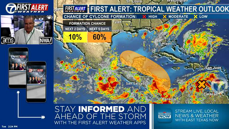 Watching the tropics carefully. Possible development over W. Caribbean Sea/Into the Gulf of...