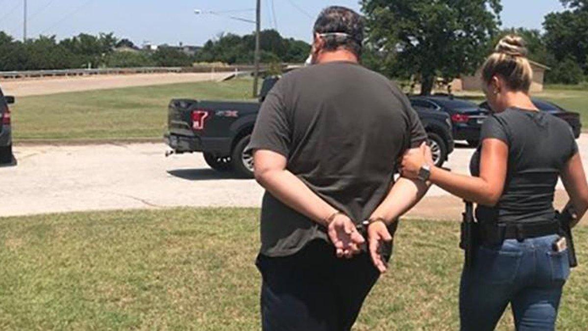 David Pettigrew taken into custody.
