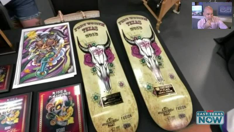 Some wares are shown off at the ArkLaTex Tattoo and Art Expo.