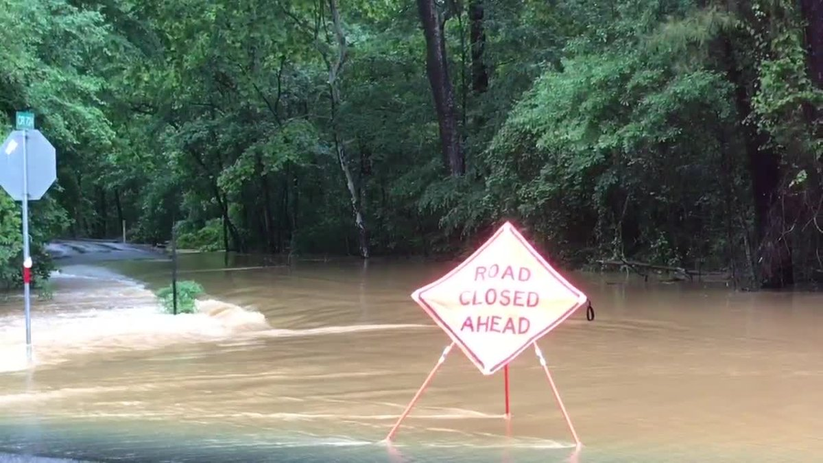 At least 30 roads have been closed in and around Nacogdoches as creeks are still rushing with...