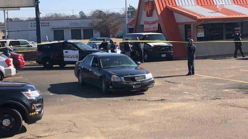 Officers say it happened around 11:35 a.m. A black sedan was shot multiple times at the Oaklawn...