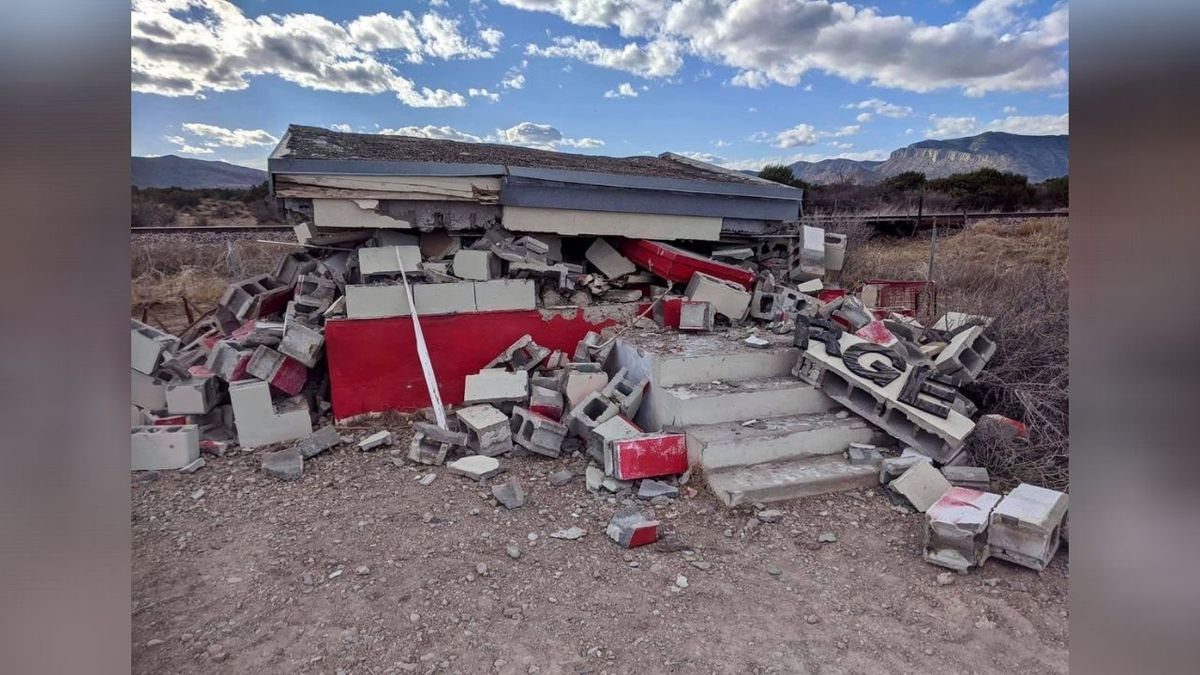The 'Tiny Target,' a mysterious roadside attraction in rural West Texas was demolished by the...