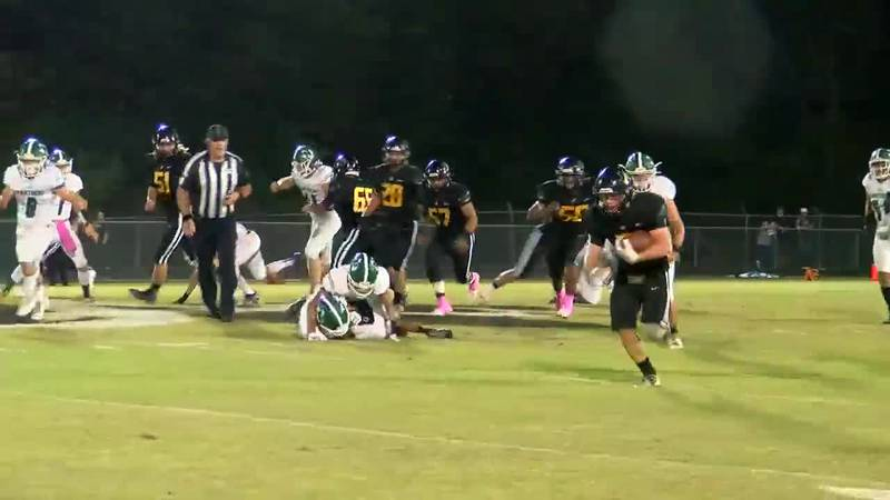 WATCH: Alto's Jackson Duplichain weave in and out of the Normangee defense and run for a TD