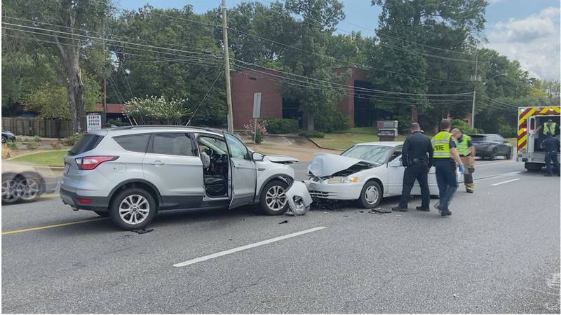 Two people were taken to the hospital after two vehicles collided on Judson Road in Longview...