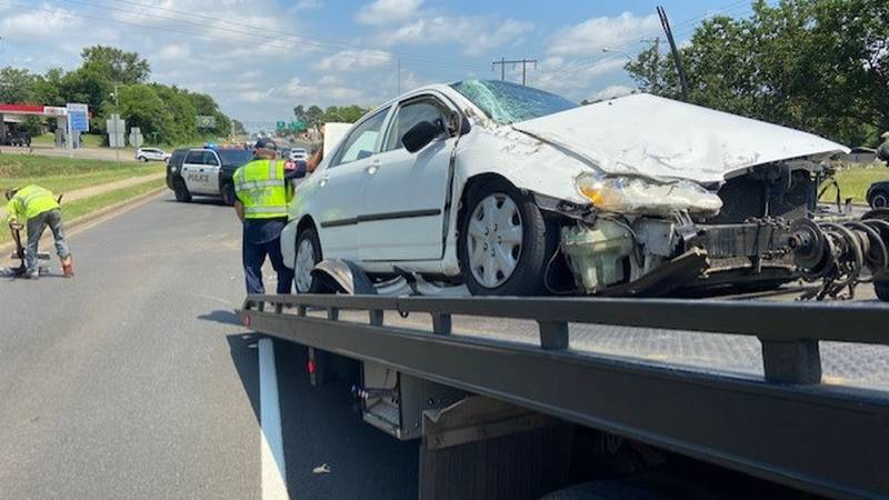 A single-vehicle rollover crash on Estes Parkway in Longview ended in the driver being taken to...