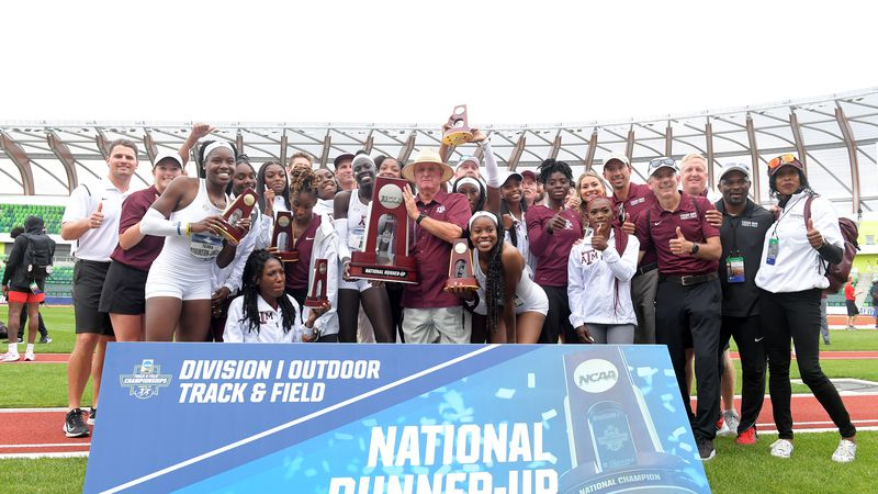 Texas A&M Women's track and Field team finishes 2nd at NCAA Outdoor Championship in Eugene,...