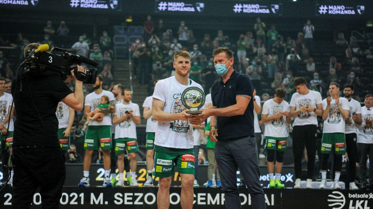 Thomas Walkup named the 2021 LKL Finals MVP (BC Zalgiris)