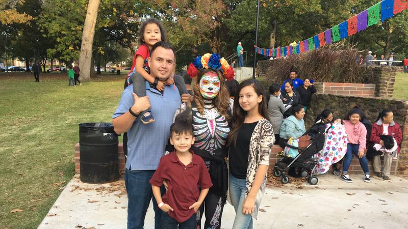 Lexlie Garcia and her family.
