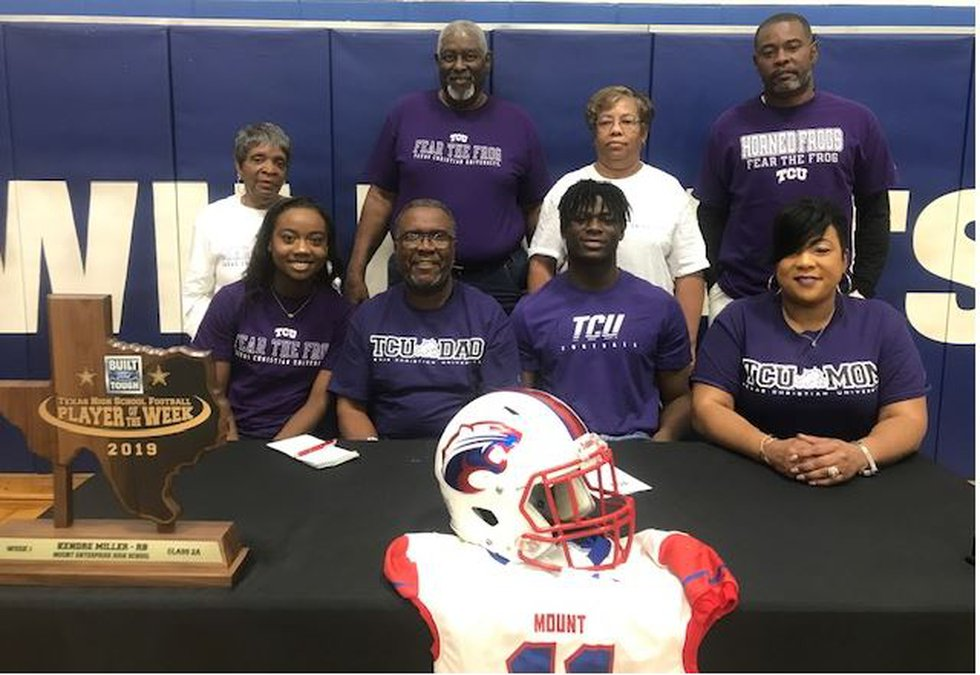 Kendre Miller, who played football for Mount Enterprise, signed with TCU. (Source: KTRE Staff)