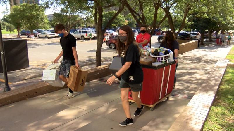 Slow and steady, that's how students are moving back into student housing on the campus of...