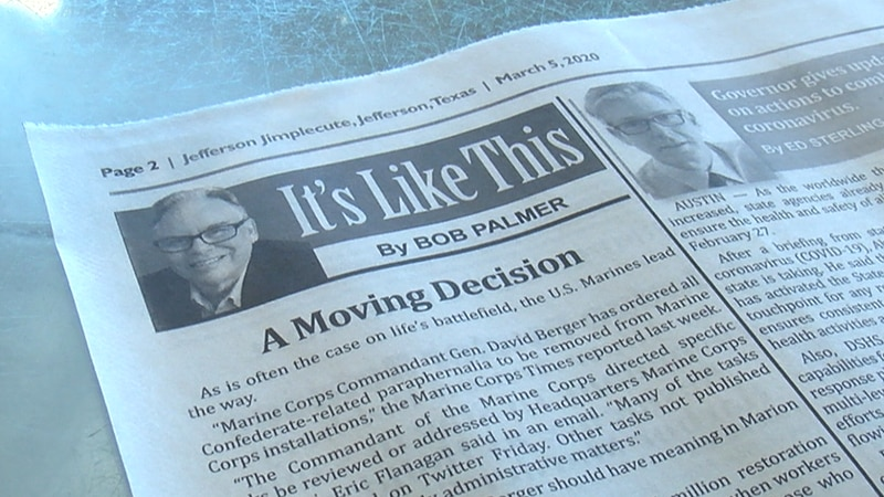 In the March 5th edition of the Jefferson Jimplecute, Bob Palmer published an opinion piece...