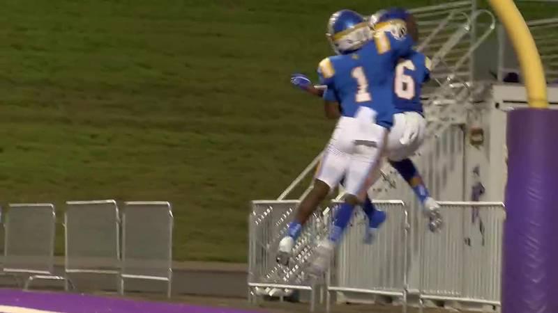 Chapel Hill's Samari Willis blasts through Livingston defense to score
