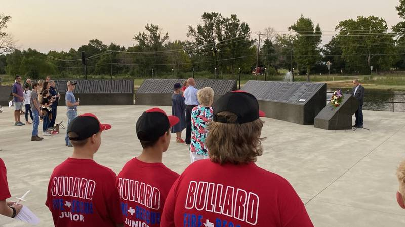 The American Freedom Museum at The Brook Hill School held an early 9/11 tribute ceremony on...