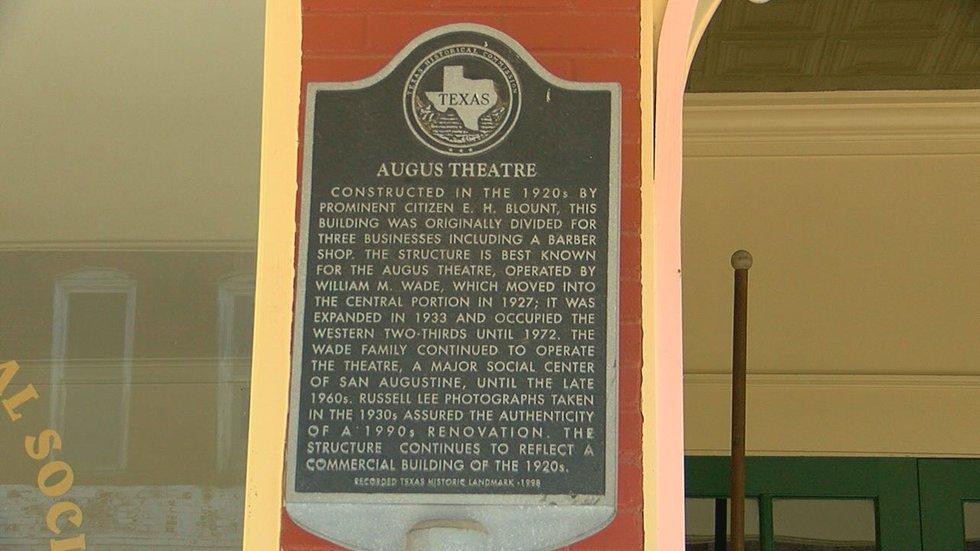 Augus Theatre historical marker