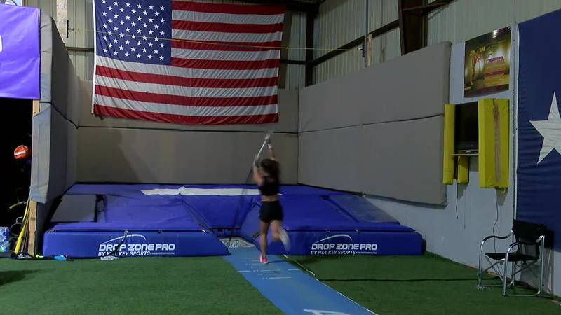 2 SFA pole vaulters prep for nationals, Olympic trials
