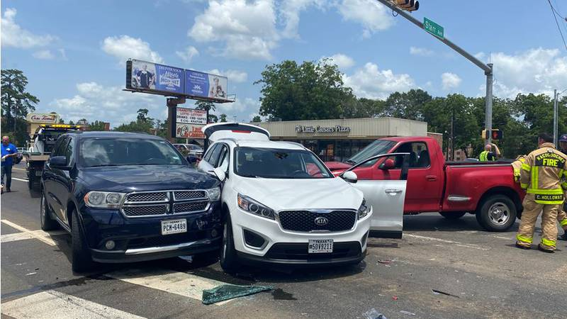 Two people were injured after a three-vehicle wreck occurred on North Street Saturday...