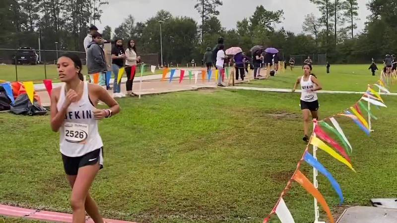 The Lufkin Boys and Girls teams both won their 16-5A championships Thursday morning on a rain...
