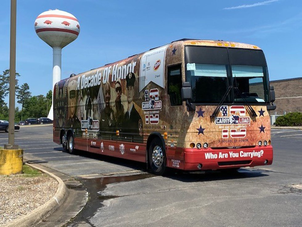 Carry The Load Relay travels through Texarkana on its way to Dallas.