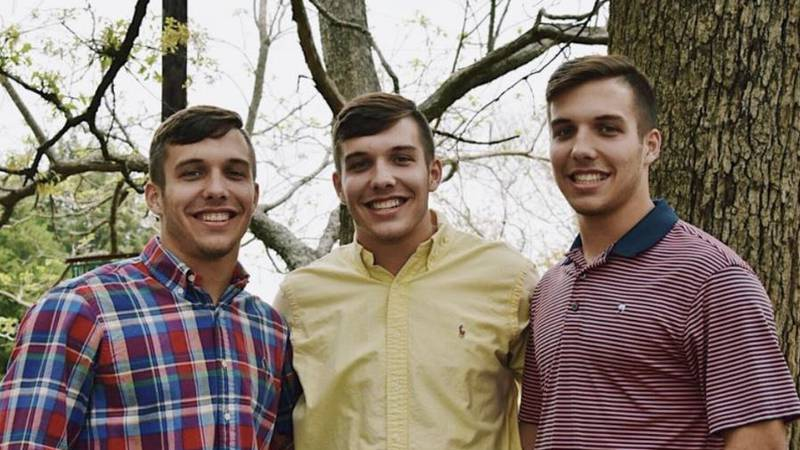 Lindale natives Grant, Garrett, and Grayson Sims are triplets who were born one minute apart...