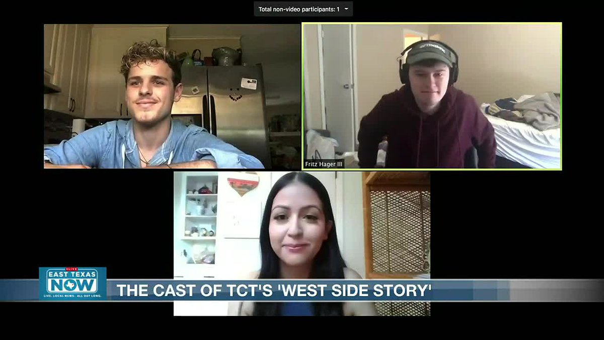 ETN's Jeremy G. Butler speaks with cast members from Tyler Civic Theatre Center's production of...