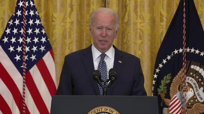 President Joe Biden paid tribute to unions during remarks on Wednesday.