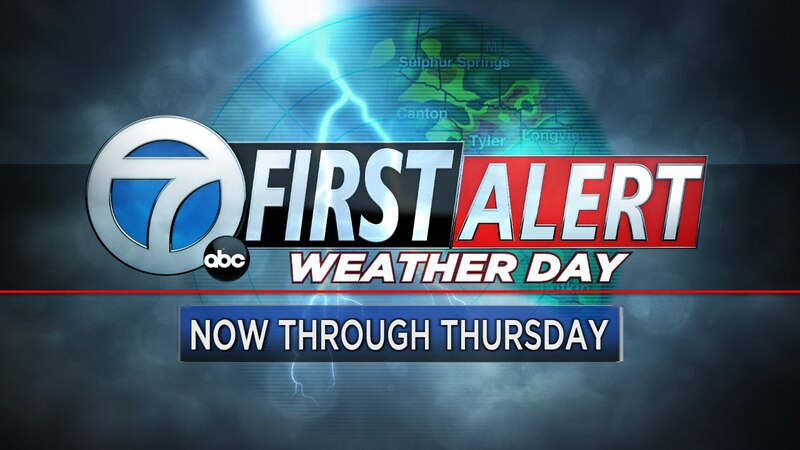 Storms, flooding possible through Thursday for East Texas