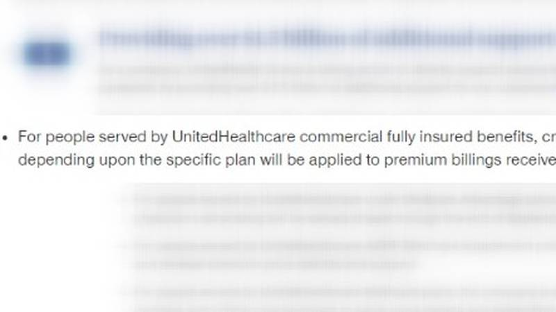 United Health Care has given a discount to some groups.