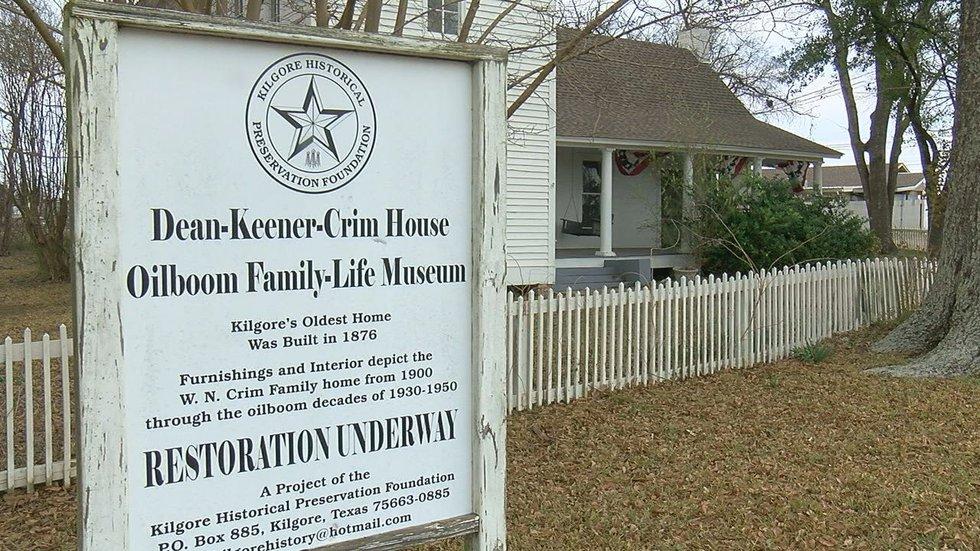 The Dean Keener Crim Home is Kilgore's oldest standing house.