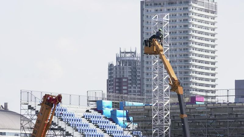 Pressure is building for the Olympics to be canceled, but final preparations are happening on...