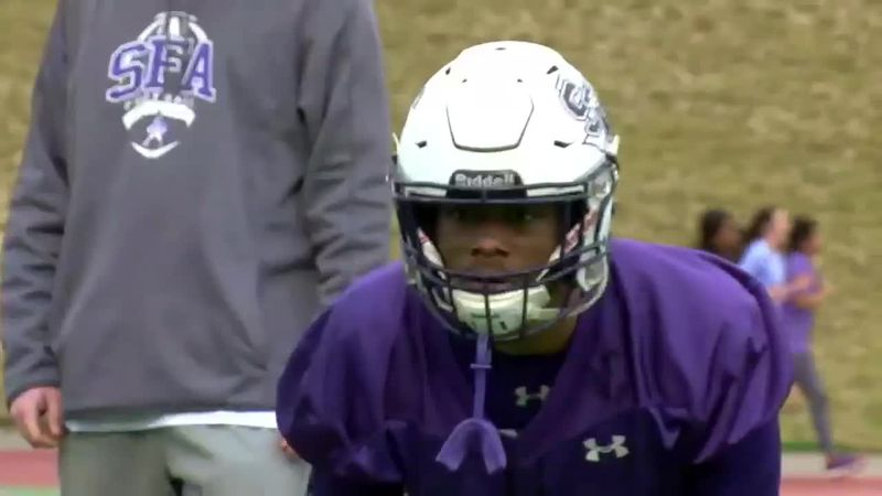SFA football holds first spring practice