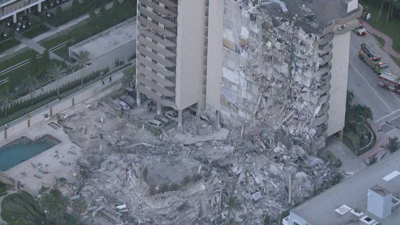Dozens have been rescued following a deadly building collapse in Surfside, Florida.