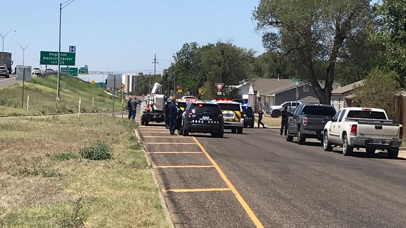 3 injured after car crashes into house on I-40 and Travis (Source: KFDA)