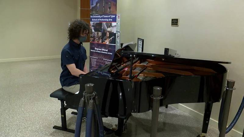 A pianist plays a piece as part of a new partnership between UT Tyler and UT Health East Texas.