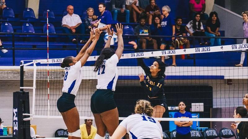 SFA volleyball vs PVAMU