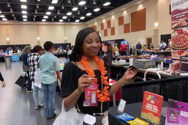 Students taste test possible school menu items at Longview food show