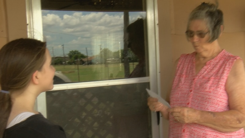 Jennifer has given letters to residents, businesses and even the police department