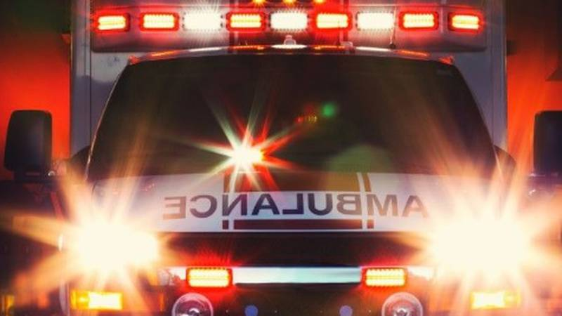 A man allegedly pulled a knife on medics in an ambulance.