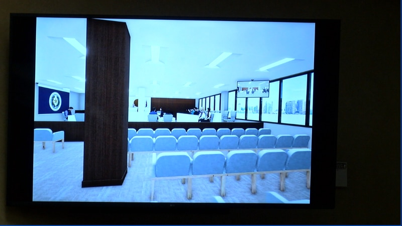 Presentation from Fitzpatrick Architects on what added space will look like for the 321st...