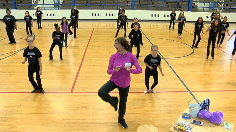 Caldwell Arts Academy students learn choreography from the Nutcracker.