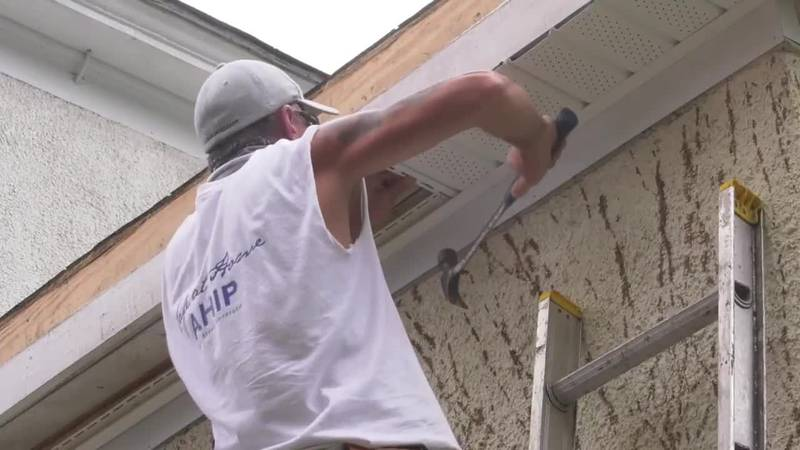 AHIP repairing roof damage